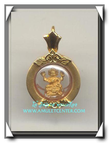 พระพรหมเนื้อทองคำ วัดบวรนิเวศวิหาร พศ.2543 พร้อมเลี่ยมทอง
