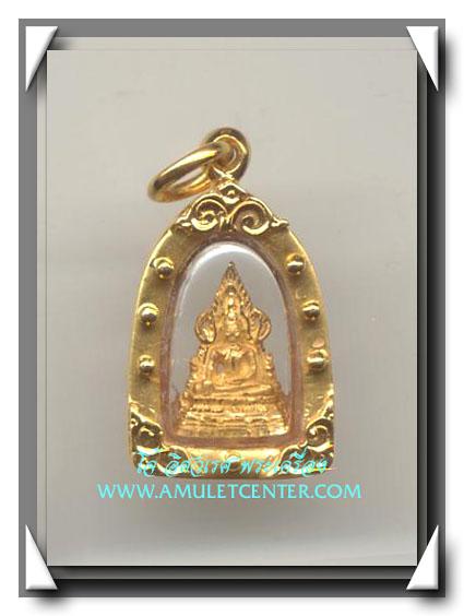 พระพุทธชินราชเนื้อทองคำ วัดบวรนิเวศวิหาร พ.ศ.2543 พร้อมเลี่ยมทอง