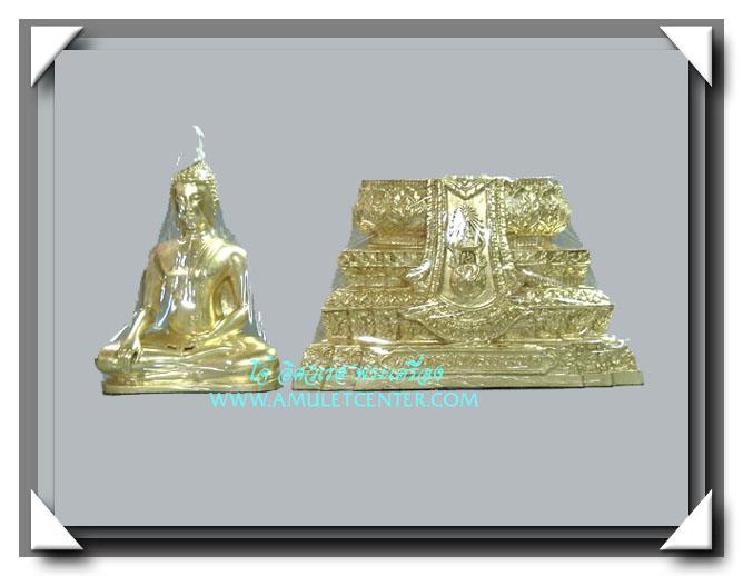 พระบูชา พระพุทธสิงหธรรมมงคล เนื้อโลหะมงคลปิดทอง ความสูง 12 นิ้ว ตรา ภ.ป.ร. โดยพุทธสมาคมแห่งประเทศไทย 2