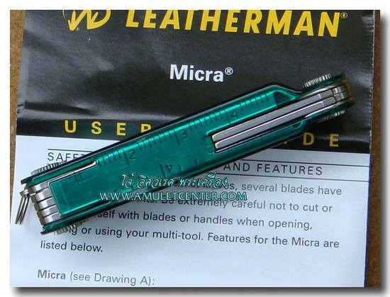 Leatherman Micra PE GREEN multi-tool 10 In 1 4