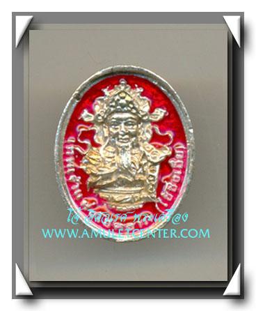 เทพเจ้าของชาวจีน เทพเจ้าไฉ่ซิ่งเอี๊ย เนื้อเงินแท้ ลงยาสีแดง วัดเล่งเน่ยยี่ พ.ศ.2543