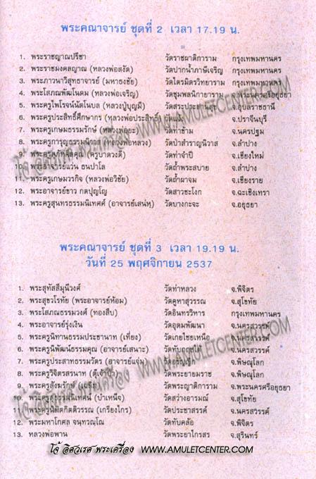 พระบูชาหลวงพ่อเงิน (พุทฺธโชติ) วัดหิรัญญาราม (วัดบางคลาน) จ.พิจิตร พ.ศ.2537 สุดยอดแห่งพิธีกรรม !!! 10