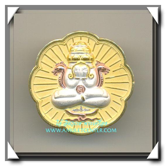 เหรียญปิดตาพังพะกาฬ หลักเมืองพุทธาคมเขาอ้อ 3 กษัตริย์ ขนาด 3.2 ซม. เสก 9 วาระ พ.ศ.2549 (2)