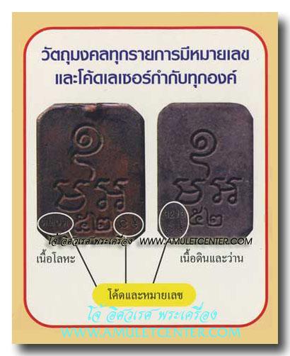 พระพุทธเจ้าปางประทับสัตว์ โบราณย้อนยุค พิมพ์ทรงไก่หางพวง รุ่นประวัติศาสตร์ พ.ศ.2552 เลี่ยมทองคำ 4