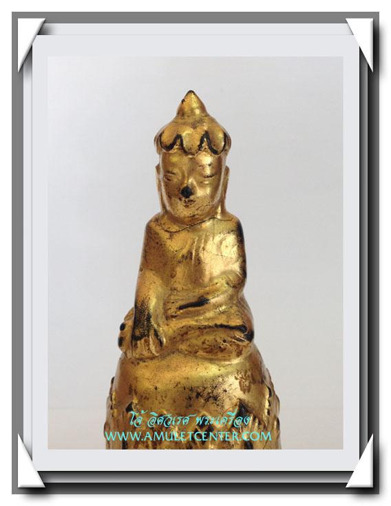 พระอุปคุต (พระบัวเข็ม) ศิลปะพม่า สูง 4.8 นิ้ว (รานคอ) 1