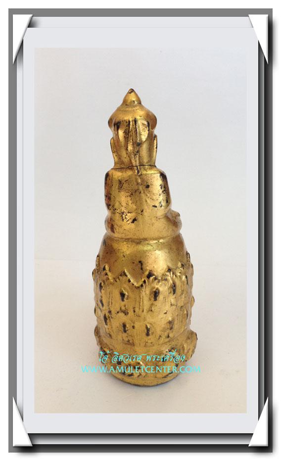 พระอุปคุต (พระบัวเข็ม) ศิลปะพม่า สูง 4.8 นิ้ว (รานคอ) 3
