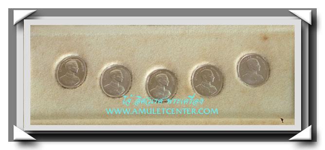 เหรียญรัชกาลที่ 9 หลังพระพุทธปัญจภาคีครบชุด เนื้อเงินเล็กเฉลิมฉลองพระราชพิธีกาญจนาภิเษก พ.ศ. 2539 1