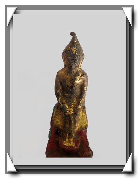 พระบูชารัตนะ ปางป่าเลไลย์ ลงรัก ปิดทอง ร่องชาด ใต้ฐานดินไทย