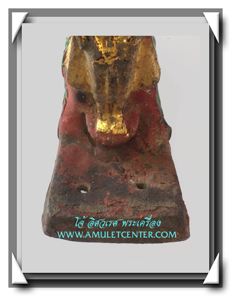 พระบูชารัตนะ ปางป่าเลไลย์ ลงรัก ปิดทอง ร่องชาด ใต้ฐานดินไทย 3