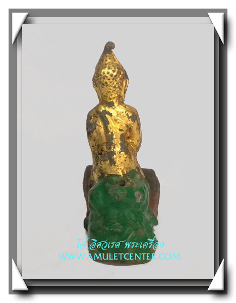 พระบูชารัตนะ ปางป่าเลไลย์ ลงรัก ปิดทอง ร่องชาด ใต้ฐานดินไทย 6