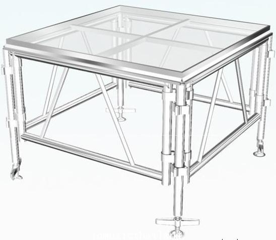 MOBILE STAGE เวทีอลูมิเนียม เวทีConcert ปรับระดับได้ ความสูง 1 เมตร ถึง 2 เมตร ติดตั้งได้ทุกพื้นที่