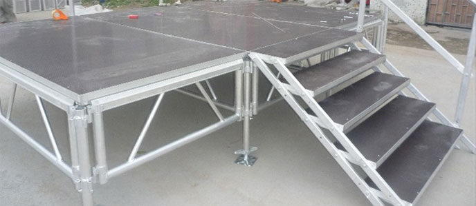 MOBILE STAGE เวทีอลูมิเนียม เวทีConcert ปรับระดับได้ ความสูง 1 เมตร ถึง 2 เมตร ติดตั้งได้ทุกพื้นที่ 2