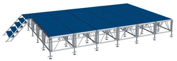 MOBILE STAGE เวทีอลูมิเนียม เวทีConcert ปรับระดับได้ ความสูง 1 เมตร ถึง 2 เมตร ติดตั้งได้ทุกพื้นที่ 4