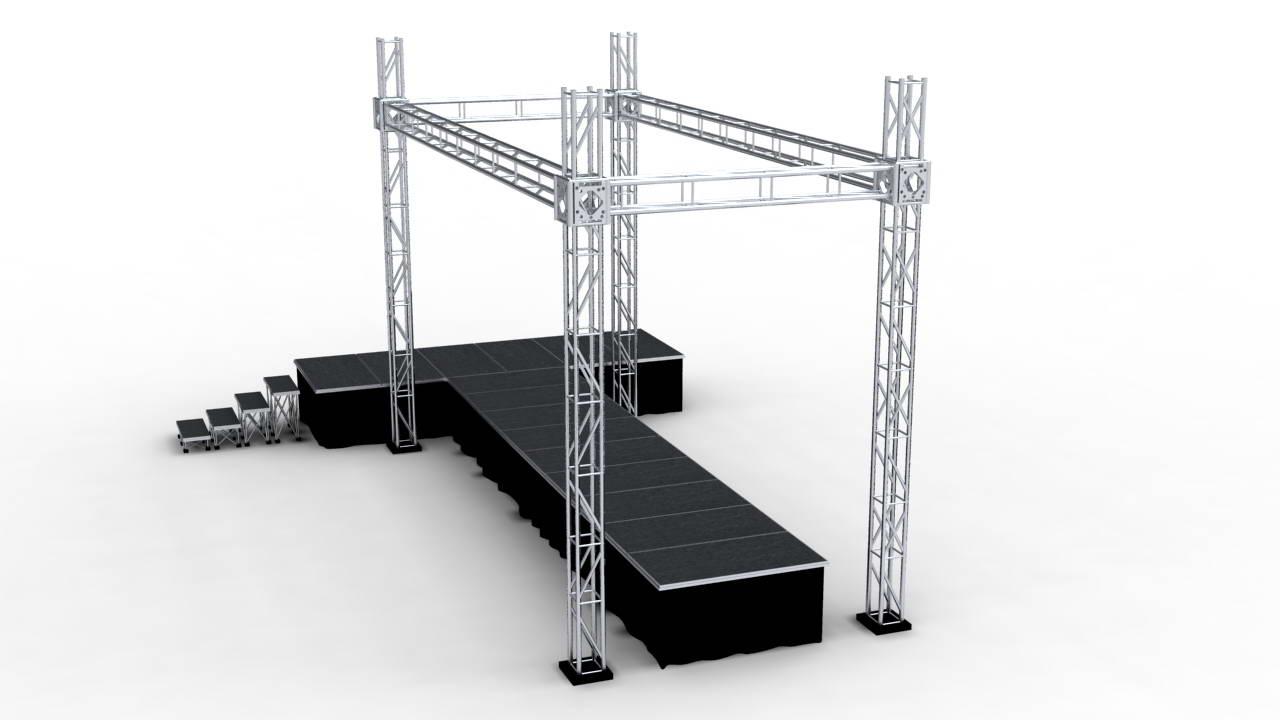 MOBILE STAGE เวทีอลูมิเนียม เวทีConcert ปรับระดับได้ ความสูง 1 เมตร ถึง 2 เมตร ติดตั้งได้ทุกพื้นที่ 8