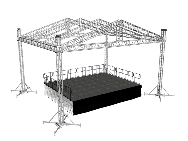 MOBILE STAGE เวทีอลูมิเนียม เวทีConcert ปรับระดับได้ ความสูง 1 เมตร ถึง 2 เมตร ติดตั้งได้ทุกพื้นที่ 10