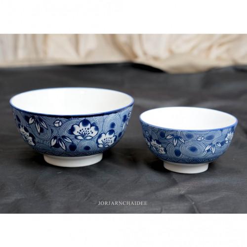 เซ็ตชามกลมเซรามิคลายจีน