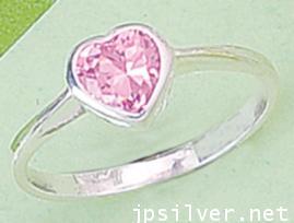 แหวนพลอยรูปหัวใจ