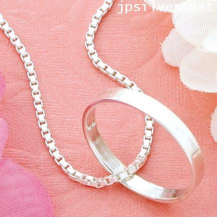 สร้อยคอเงินแท้ สร้อยคอลายอิตาลีห้อยจี้แหวน ยาว 18 นิ้ว