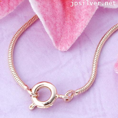 สร้อยคอหุ้ม Pink gold ลายสเน็ค ยาว 16 นิ้ว