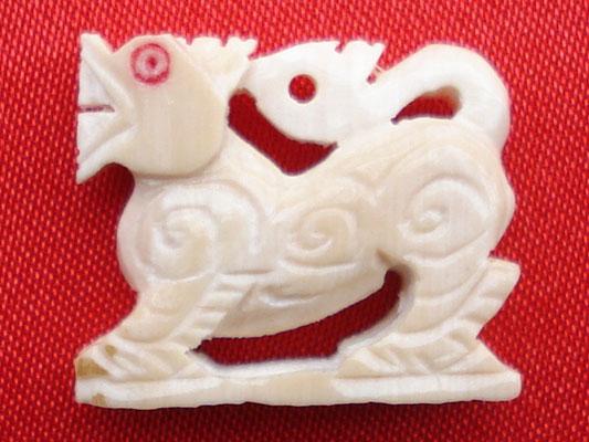 สิงห์สามขวัญ หลวงพ่อเดิม วัดหนองโพ เนื้องาช้างแกะ ปี2538