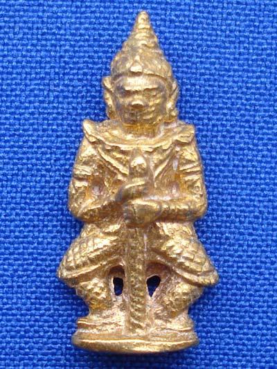 ท้าวเวสสุวรรณ(ท้าวเวสสุวัณ) รุ่นเทพคุ้มครอง เนื้อทองทิพย์ พระเครื่อง วัดสุทัศนฯ ปี 255