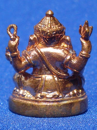 พระพิฆเนศวร์  รุ่นบังเกิดทรัพย์ เนื้อสัตตโลหะ พิธีมงคลเทวาภิเษก ณ ปราสาทพนมรุ้ง ปี 2549 สวยมาก 2