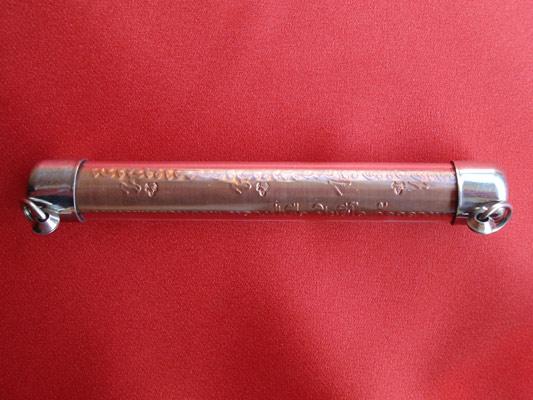 ตะกรุด มหาพุทธานุภาพ  เนื้อทองแดง ขนาด 4 นิ้ว ตะกรุดรุ่นแรก หลวงปู่เจือ วัดกลางบางแก้ว ปี 2549 2