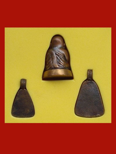 หลวงพ่อเงิน บางคลาน รุ่นเมตตาบารมี 43 ชุด 3 องค์ เนื้อทองเหลือง ปลุกเสกร่วมกับรุ่นพระจิตร 1