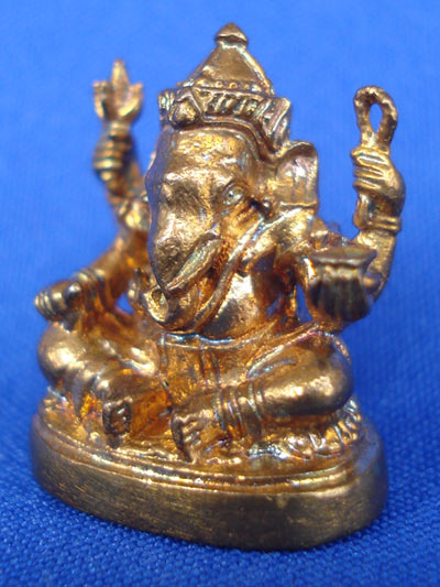 พระพิฆเนศวร์ รุ่นบังเกิดทรัพย์ เนื้อสัตตโลหะ พิธีมงคลเทวาภิเษก ณ ปราสาทพนมรุ้ง ปี 2549 สวยมาก