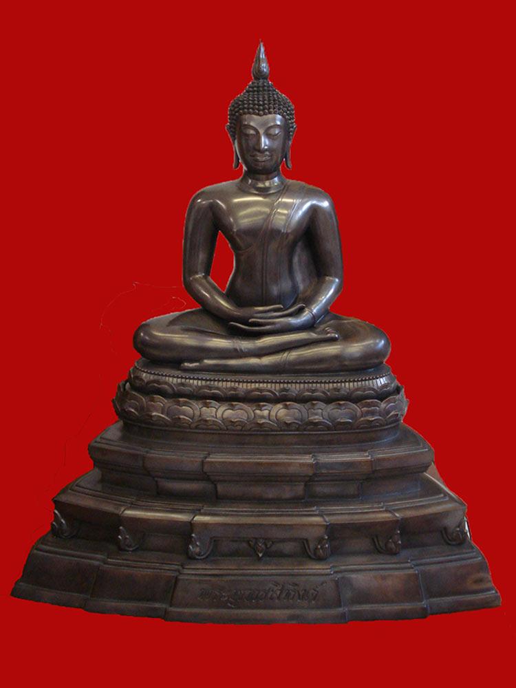 พระบูชาพระพุทธสิหิงค์ สมเด็จพระสังฆราช วัดบวรนิเวศ ขนาดหน้าตักกว้าง 16 นิ้ว ปี 2545 1