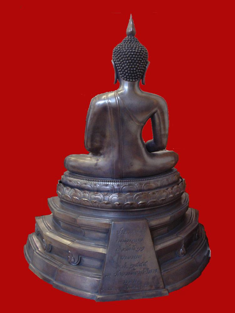 พระบูชาพระพุทธสิหิงค์ สมเด็จพระสังฆราช วัดบวรนิเวศ ขนาดหน้าตักกว้าง 16 นิ้ว ปี 2545 2