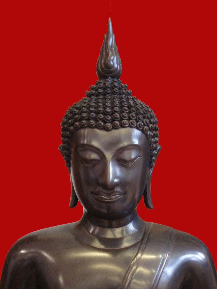 พระบูชาพระพุทธสิหิงค์ สมเด็จพระสังฆราช วัดบวรนิเวศ ขนาดหน้าตักกว้าง 16 นิ้ว ปี 2545