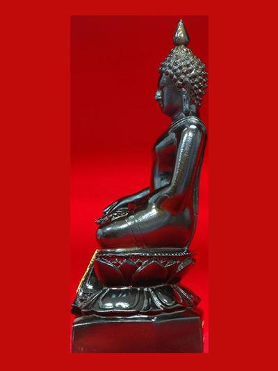 พระบูชาไพรีพินาศ สมเด็จพระสังฆราช 90 พรรษา วัดบวรนิเวศ เนื้อทองแดงรมดำ ขนาดหน้าตัก 3 นิ้ว ปี 2546 1