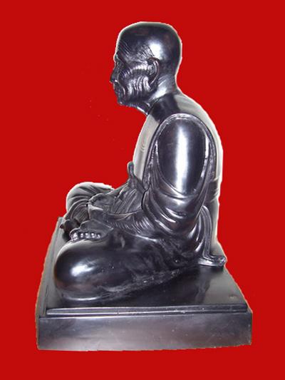 พระบูชาหลวงปู่ทวด อาจารย์ทอง วัดสำเภาเชย รุ่นพระธาตุเจดีย์ ขนาด 9 นิ้ว เนื้อโลหะรมดำ ปี 2549 2