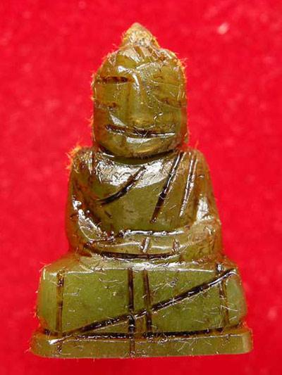 พระหินหยกแกะ พิมพ์พุทธ วัดธรรมมงคล สร้างโดยพระอาจารย์วิริยังค์ ปี 2536 สวยหายาก