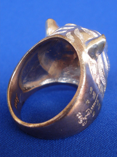 แหวนหัวเสือ เนื้อนวโลหะ หลวงพ่อฟู วัดบางสมัคร รุ่นแรก รุ่นอำนาจดีบารมีฟู ปี 2553 สุดสวย หายาก 3