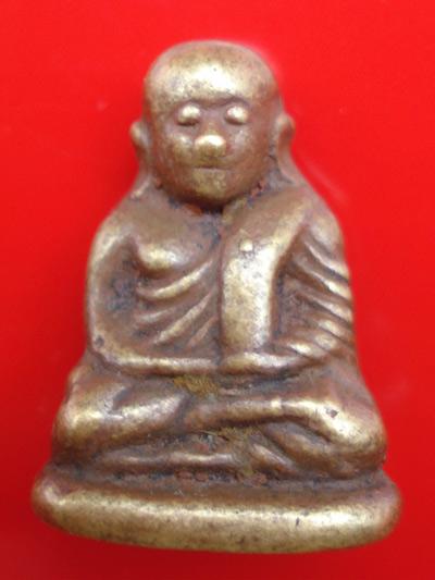 รูปหล่อหลวงพ่อเงิน บางคลาน พิมพ์นิยม วัดทุ่งน้อย เนื้อทองระฆังผสมชนวนโลหะเก่า ปี 2550 พระสวย