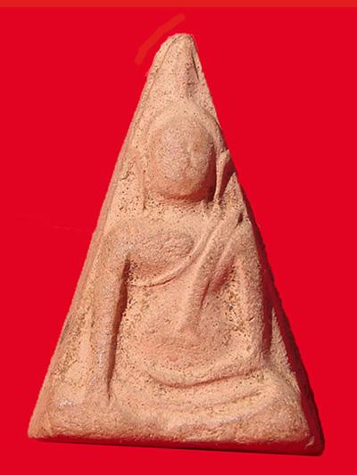 พระนางพญา อ.ถนอม พิมพ์ใหญ่ เข่าโค้ง วัดนางพญา พิษณุโลก ปี2514 สวยหายาก 3