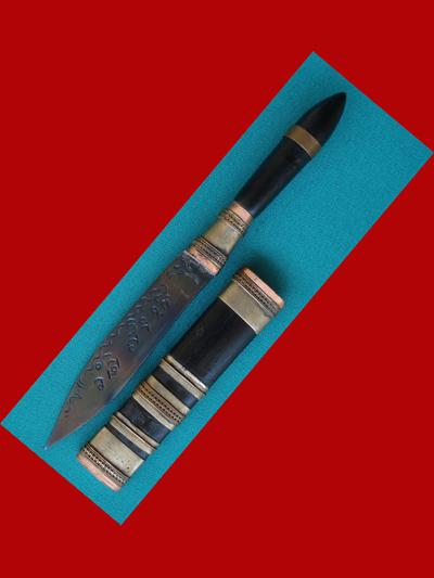 มีดหมอปากกา รุ่น 1 ขนาดใบมีด 2.5 นิ้ว หลวงพ่อสืบ วัดสิงห์ เกจิดังจังหวัดนครปฐมต่อจากหลวงปู่เจือ 3
