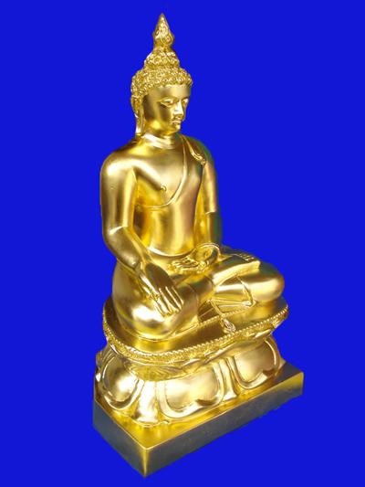 พระบูชาไพรีพินาศ สมเด็จพระสังฆราช วัดบวรนิเวศ ขนาดหน้าตักกว้าง 7 นิ้ว ลงรักปิดทอง ควรมีไว้บูชา 1