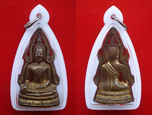 รูปหล่อพระพุทธชินราช พิมพ์แต่ง รุ่นธรรมจักร เนื้อทองทิพย์ วัดพระศรีมหาธาตุ ปี 2543 สุดสวยพุทธคุณสูง 2