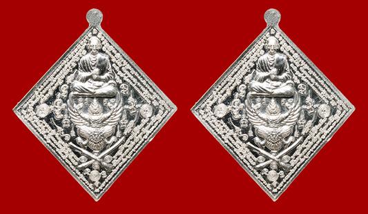 ชุดกรรมการ 2 องค์ เหรียญกรมหลวงชุมพรฯ-สมเด็จโตฯ ประทับครุฑฯ รุ่นเจ้าฟ้าจอมอาคม เนื้อลงยา ปี 2555 1