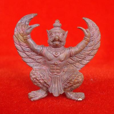 พญาครุฑมหาอำนาจ รุ่นแรก เนื้อทองแดงเถื่อนอุดผง พ่อท่านพรหม วัดพลานุภาพ ปี 2554 สุดสวย