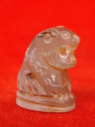 เสือแกะจากเขาควายเผือก  หลวงพ่อสิน วัดละหารใหญ่ ทายาทหลวงปู่ทิม วัดละหารใร่ สวยมากหายาก 1