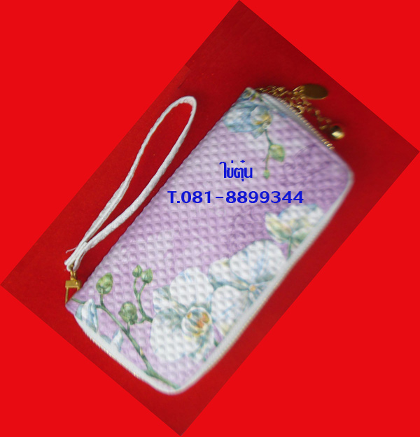 กระเป๋าสตางค์เดคูพาจ สีสวยสดใส ทันสมัย ขนาด ยาว 8 นิ้ว กว้าง 4 นิ้ว ภายในใส่ได้หลายช่อง