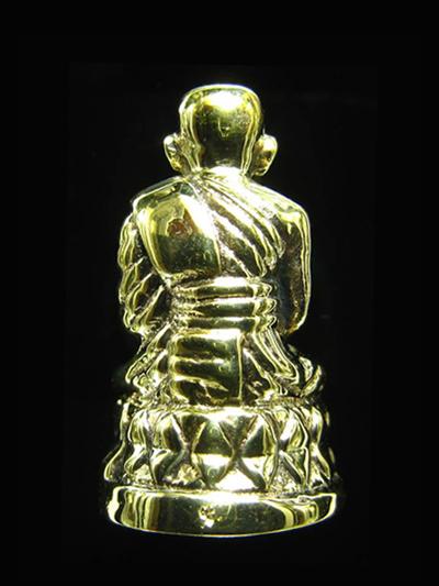 หลวงปู่ทวดพิมพ์บัวรอบ เนื้อทองฝาบาตรขัดเงา รุ่นแรก 84 พรรษา สมเด็จพระสังฆราช ปี 40 สวยพิธีใหญ่ 1