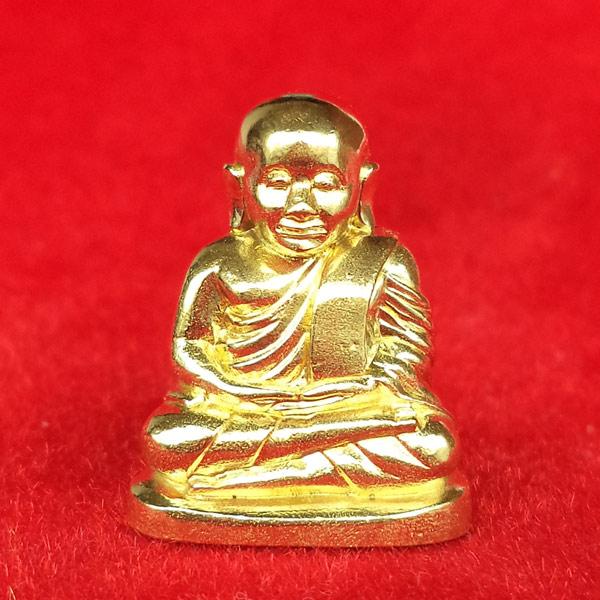 รูปหล่อหลวงพ่อเงิน บางคลาน พิมพ์นิยม รุ่น 55 มหาบารมี 85 พรรษา เนื้อทองเหลือง วัดบางคลาน ปี 2555