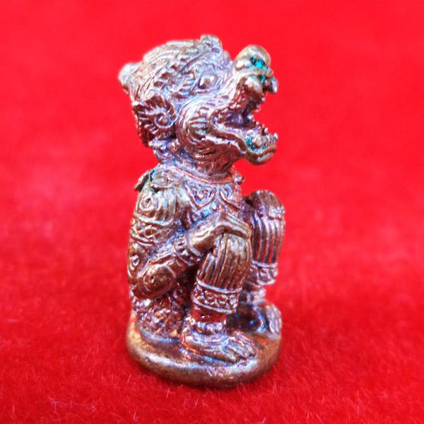 รูปหล่อหนุมานอมฤต หลวงพ่ออ่าง วัดใหญ่สว่างอารมณ์ เนื้อทองแดง พิธีโบราณ สร้างตามตำราหลวงพ่อสุ่น