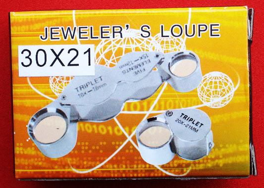 กล้องส่องพระ JEWELER\'S LOUPE TRIPLET 30 X - 21 mm รุ่นนี้คุณภาพเยี่ยม 3
