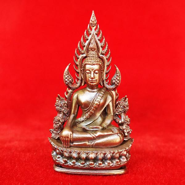 พระพุทธชินราช พิมพ์แต่งฉลุลอยองค์ รุ่นจอมราชันย์ เนื้อบรอนซ์นอก วัดพระศรีฯ เลข 3688 สุดสวย